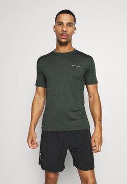 Endurance - MELL MELANGE TEE - T-Shirt basic - deep forest
