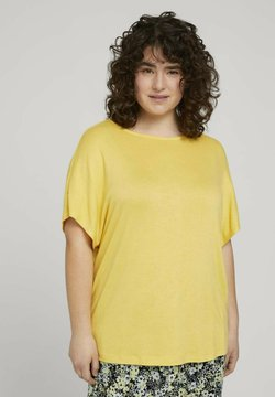 MY TRUE ME TOM TAILOR - T-shirt con stampa - mellow yellow melange