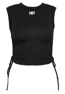 HIIT - LIZZY RUCHED TANK - T-shirt basique - black