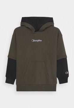 Champion - ROCHESTER LOGO HOODED - Bluza z kapturem - khaki