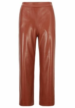 BOSS - TAOMIE - Pantalon en cuir - brown