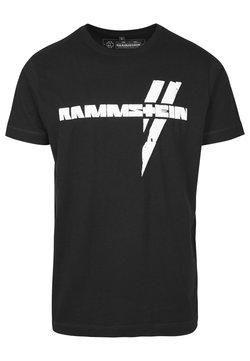 Mister Tee - RAMMSTEIN WEISSE BALKEN TEE - T-Shirt print - black