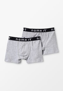 Name it - NKMBOXER SOLID 2 PACK - Shorty - grey melange