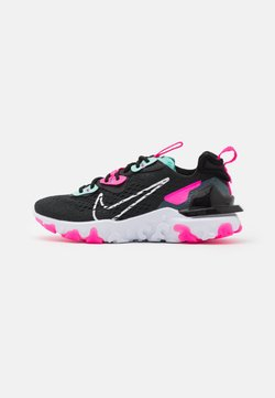 Nike Sportswear - REACT VISION - Sneaker low - dark smoke grey/white/pink blast