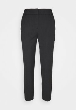 Selected Femme Petite - SLFRIA CROPPED PANT - Pantalones - black/melange
