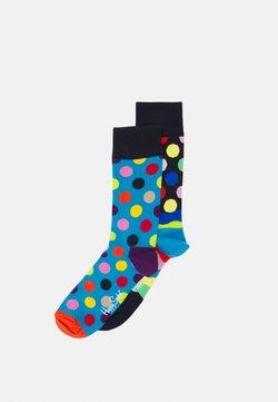 Happy Socks - BIG DOT SOCK EASTER WAVE SOCK UNISEX 2 PACK - Socken - multi-coloured