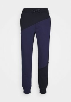 Tommy Hilfiger - BLOCKED TERRY CUFFED PANT - Jogginghose - blue