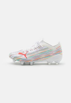 Puma - ULTRA 1.2 FG/AG - Moulded stud football boots - white/red blast/silver