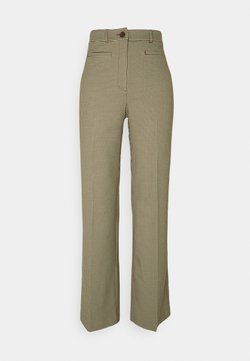 Monki - STACY TROUSERS - Pantalon classique - brown choco