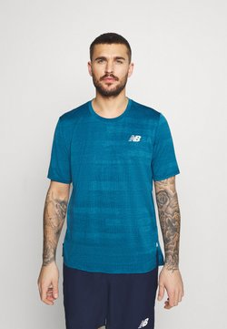 New Balance - RUNNING - T-shirt imprimé - petrol