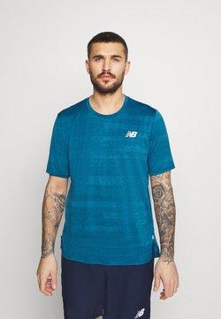 New Balance - RUNNING - T-Shirt print - petrol