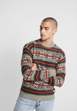 Jack & Jones PREMIUM - JPRZACHARY CREW NECK - Neule - burnt henna