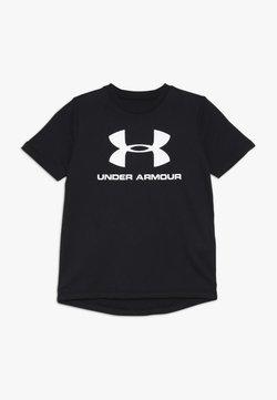 Under Armour - T-shirt z nadrukiem - black/white