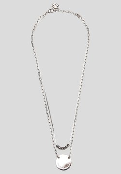 s.Oliver - RANGÉES ORNÉ D'UNE PLAQUE À INSCRIPTION - Halskette - silver