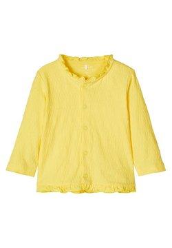 Name it - STRICKJACKE BAUMWOLL - Vest - aspen gold