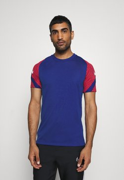 Nike Performance - DRY STRIKE - Printtipaita - deep royal blue/dark beetroot/white