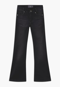 Blue Effect - GIRLS FLARED - Bootcut jeans - black denim