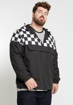 Urban Classics - CHECK PULL OVER JACKET - Veste coupe-vent - black/chess