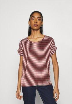 ONLY - ONLMOSTER NEW O NECK - T-Shirt print - henna/cloud dancer