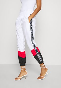 Karl Kani - TAPE BLOCK TRACK PANTS  - Jogginghose - white
