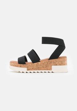 New Look - PORTSEA - Sandales à plateforme - black