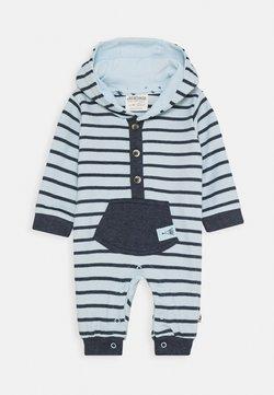 Jacky Baby - NATIVE RACCOON KAPUZENOVERALL - Jumpsuit - blau
