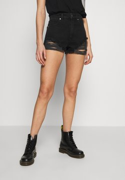Abrand Jeans - A HIGH RELAXED SHORT - Jeansshorts - black salt