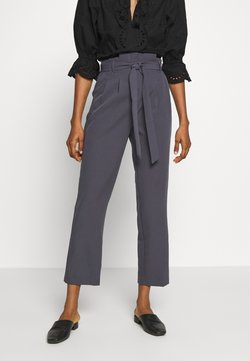 New Look - MILLER PAPERBAG TROUSER - Chinot - dark grey