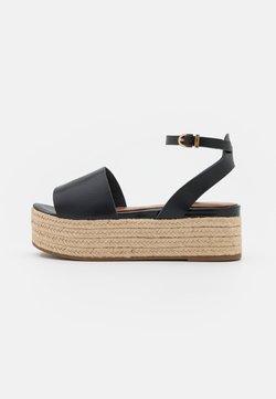 Tamaris - Korkeakorkoiset sandaalit - black