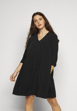 Vero Moda Curve - VMGABRINA SHORT SHIRT DRESS - Freizeitkleid - black