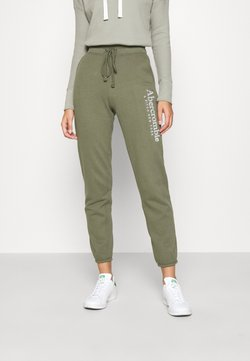 Abercrombie & Fitch - FALL TREND LOGO JOGGER - Jogginghose - olive