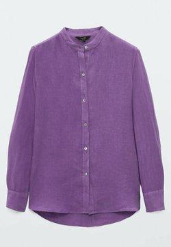 Massimo Dutti - UNIFARBENES  - Camicia - dark purple