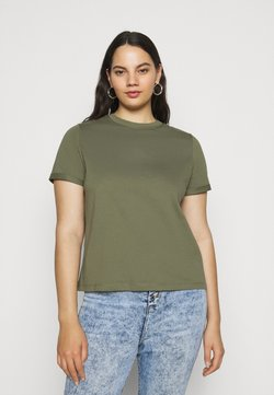 Pieces Curve - PCRIA FOLD UP SOLID TEE - T-shirt basic - deep lichen green