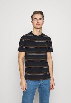 Lyle & Scott - MULTI STRIPE - T-Shirt print - dark navy