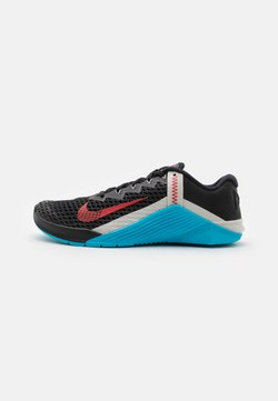 Nike Performance - METCON 6 UNISEX - Kuntoilukengät - black/universe red/light blue fury/light bone/light smoke grey
