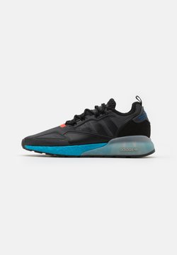 adidas Originals - ZX 2K BOOST UNISEX - Sneaker low - core black/glow blue