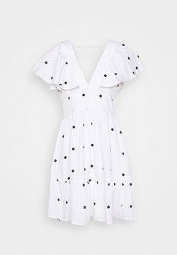 Gina Tricot - SOPHIE DRESS - Cocktailkjoler / festkjoler - white/black