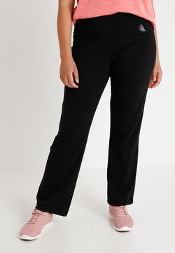 Active by Zizzi - BASIC LONG PANT - Verryttelyhousut - black