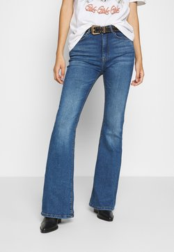 ONLY - ONLPAOLA LIFE RETRO  - Flared Jeans - dark blue denim