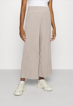 Monki - CILLA TROUSERS - Kangashousut - mole dusty light