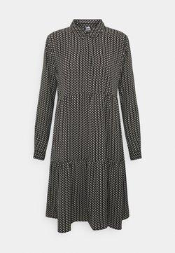 JDY - JDYPIPER DRESS - Skjortekjole - black/egret/natural geometric