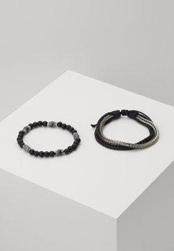 Icon Brand - ADHESION 2 PACK - Bracelet - black