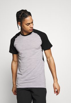 Mons Royale - TEMPLE TECH - T-Shirt print - black/grey marl