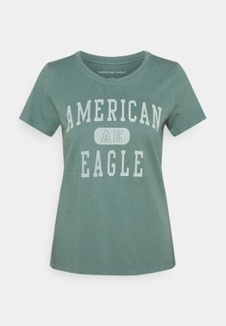 American Eagle - BRANDED CLASSIC TEES - T-Shirt print - green