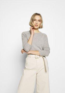 pure cashmere - CLASSIC CREW NECK  - Stickad tröja - light grey