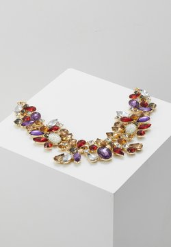 Pieces - PCFLORINNA STONE NECKLACE - Necklace - gold-coloured/red