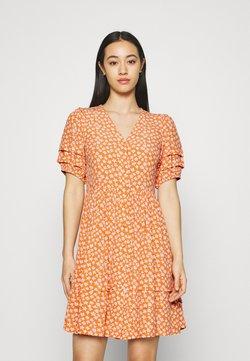 YAS - YASLURA DRESS - Blusenkleid - raw sienna/lura