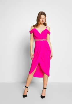 TFNC - WILLOW MIDI DRESS - Vestido de fiesta - fuschia