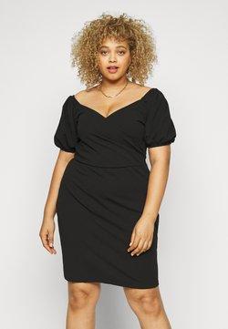 Vero Moda Curve - VMJASMINE WRAP SHORT DRESS - Freizeitkleid - black