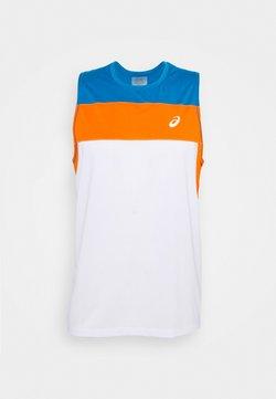 ASICS - RACE SINGLET - T-shirt sportiva - brilliant white/reborn blue
